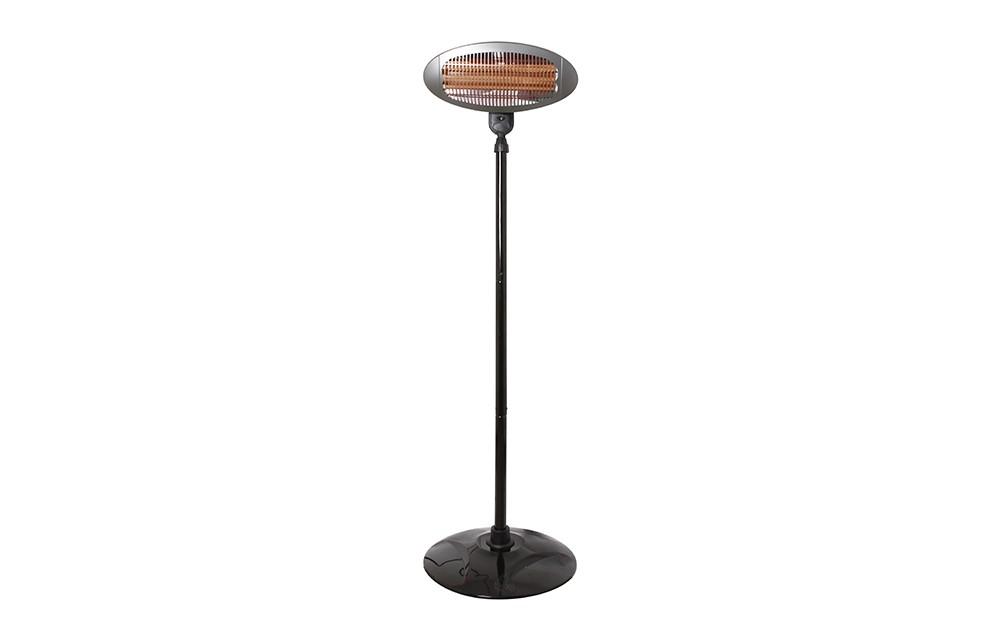 Lampe chauffante sur pieds h h bs 55 avec 2000 watt de for Lampe sur pied avec tablette