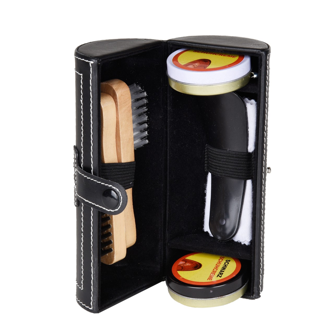 Shoe polishing set with 7 pieces