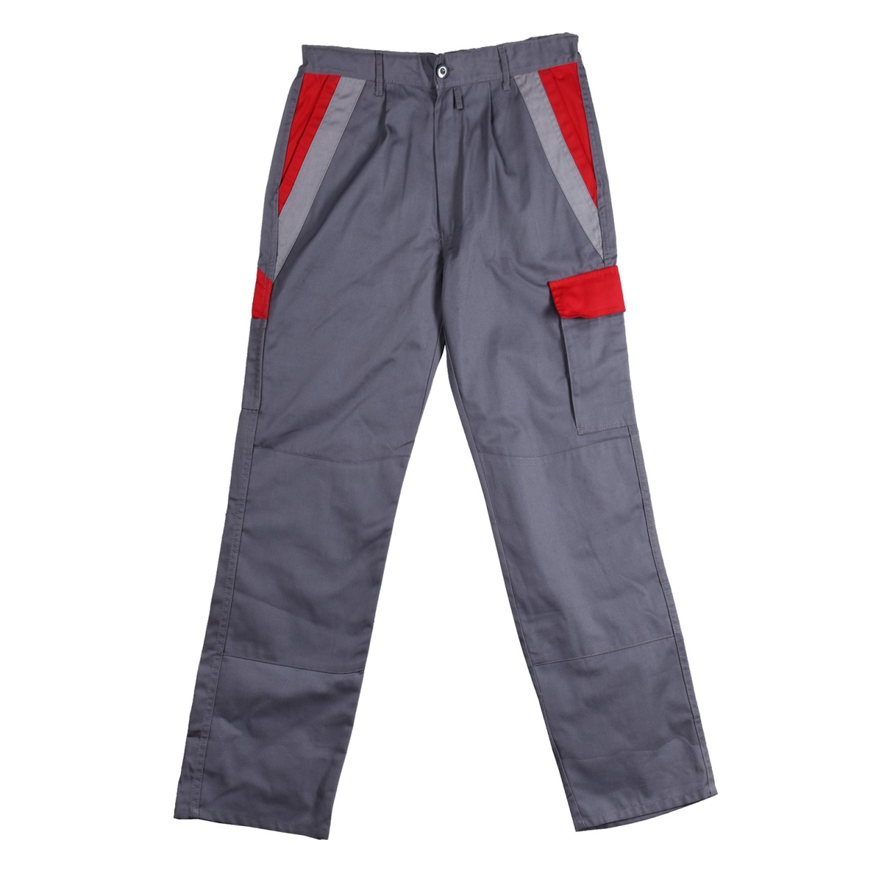 Handyman Trousers Contrast Design, Grey Red