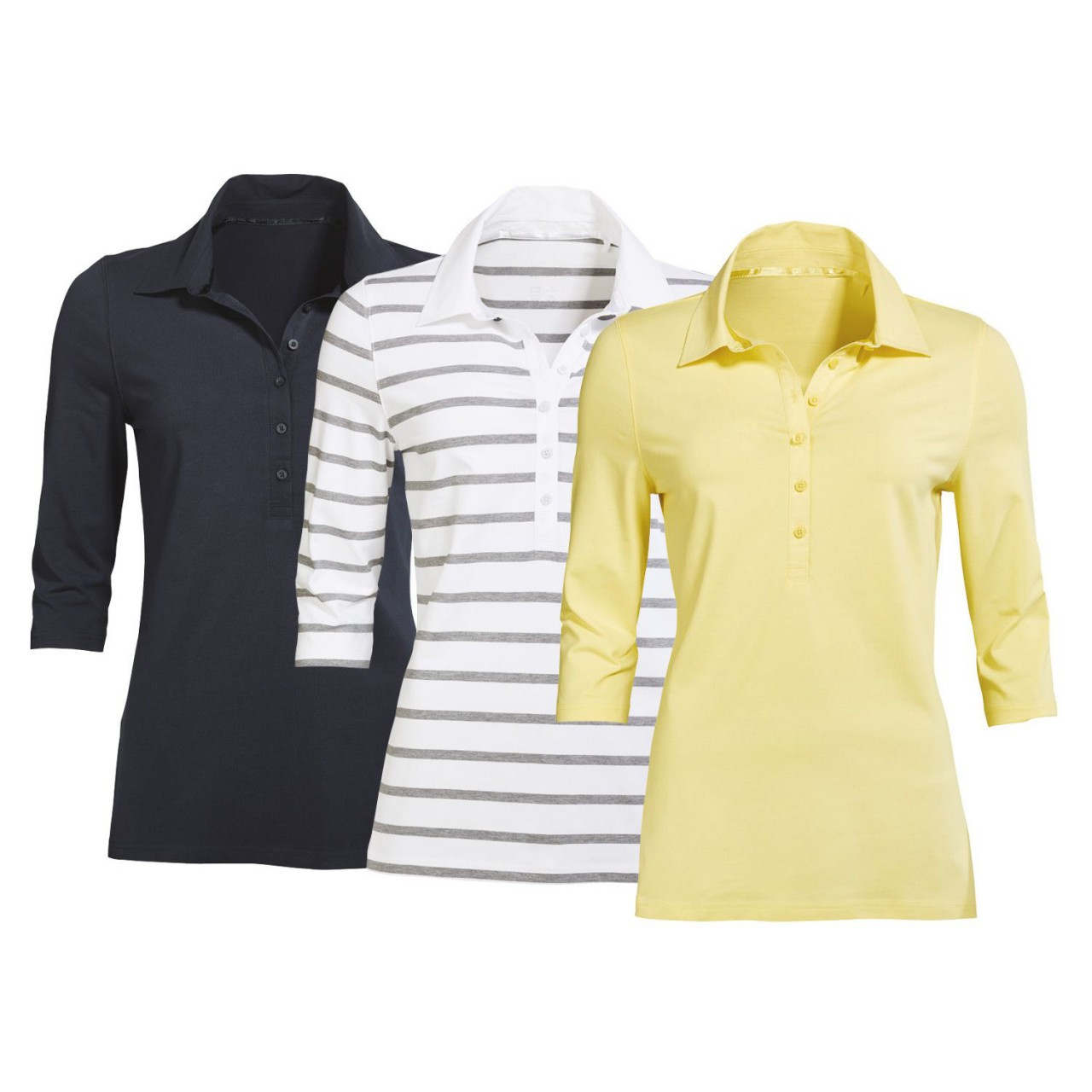 Ladies Polo Shirt with 3/4 Sleeve
