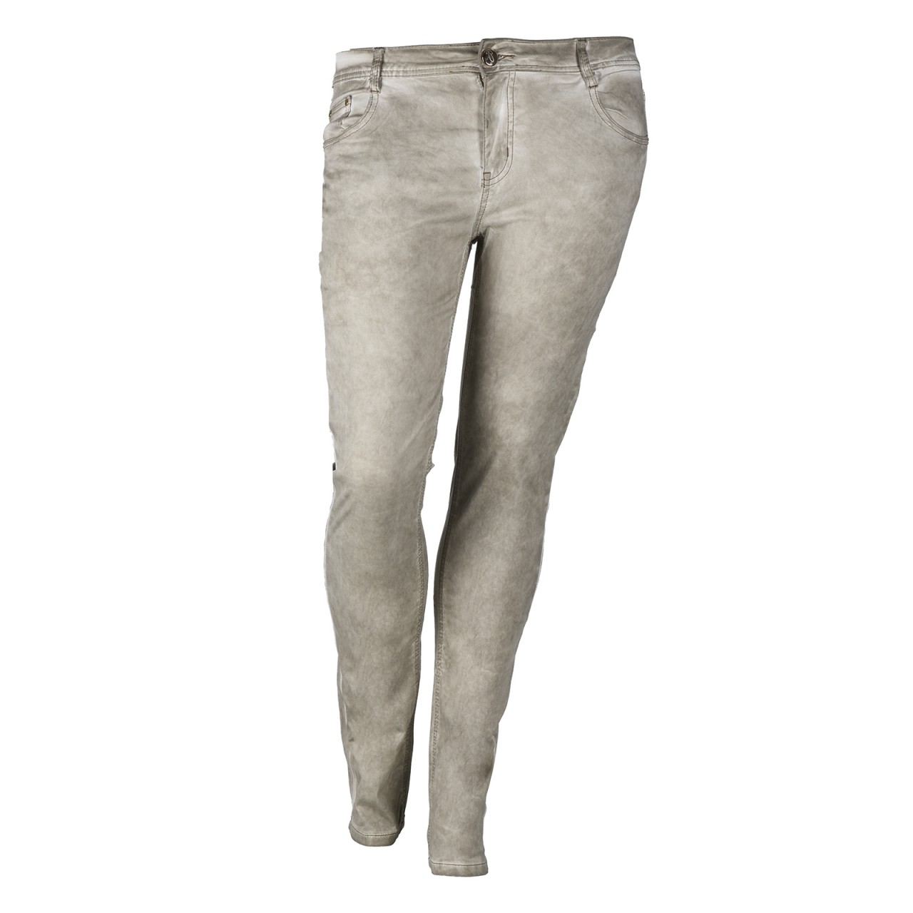 Damen Jeans Extra Slim Fit Creme
