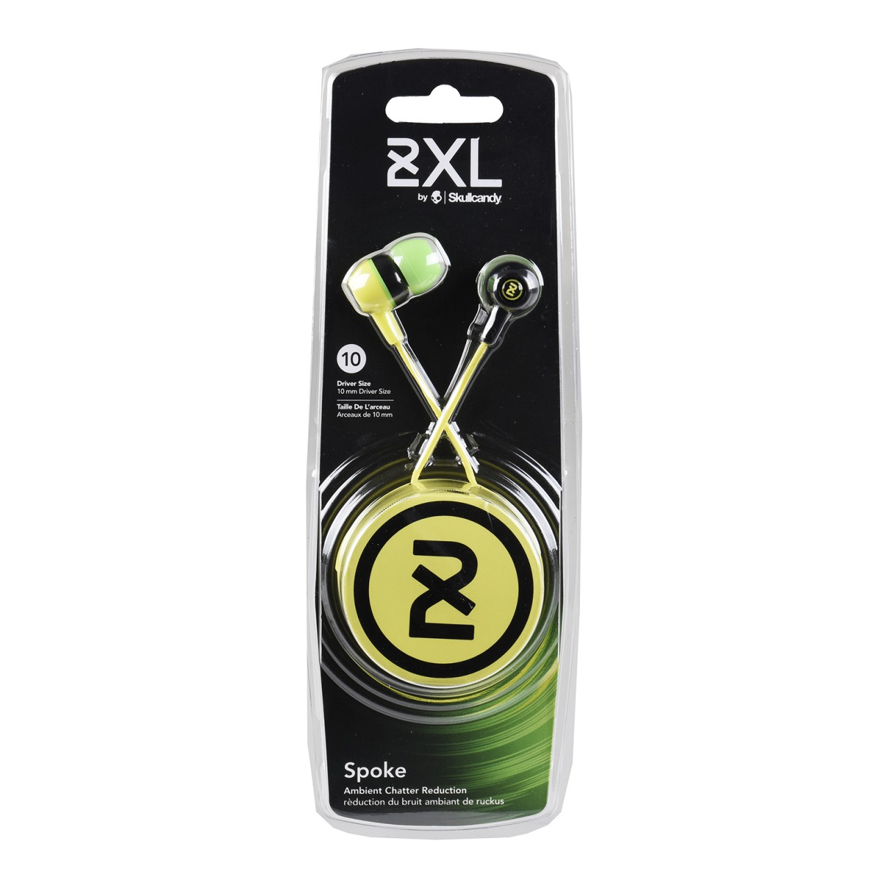 SKULLCANDY Spoke In-Ear Headphones in black / green