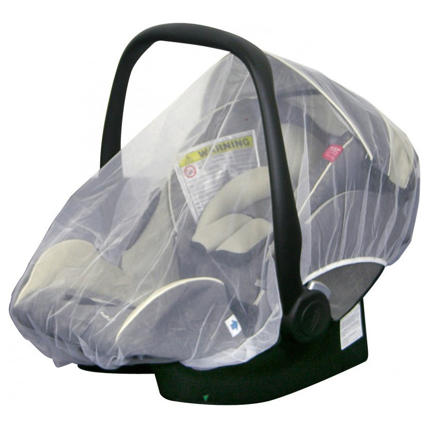 H+H BS 513 Mosquito Net for Child's Car Seat in White