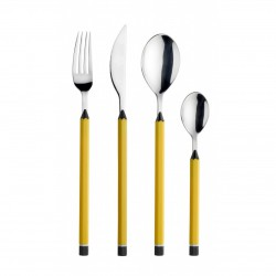 PINTINOX Design Cutlery MATITE Yellow 24 pieces