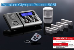 OLYMPIA Wireless GSM Alarm System 9061 with 4 Door/Window Detectors and Motion Detectors
