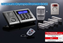 OLYMPIA Wireless alarm system 6061 Super Set with Outdoor Siren, Motion Detector, Door/ Window Detector and Remote control