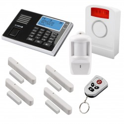 OLYMPIA Wireless GSM Alarm System 9061S Super Set with Outdoor Siren, Motion Detector, Door/Window Detector and Remote Control