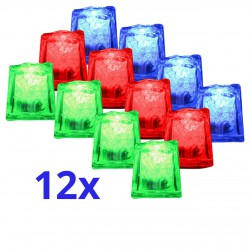 Lot de 12 glaçons LED