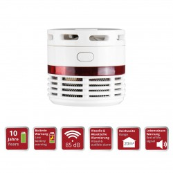 Mini Smoke Detector with 10 Years of Battery Lifetime 85db OLYMPIA