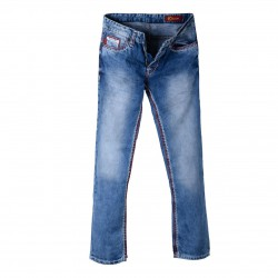 Mens Jeans Used Look with red and white XXL seams