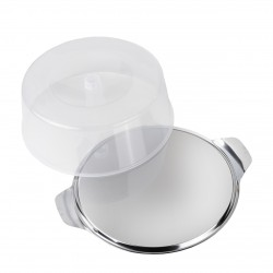 Cake Plate with Lid stainless steel Ø 30 cm
