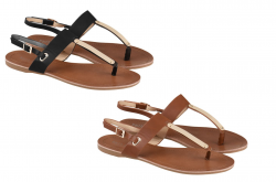 Sandalette/Zehentrenner von Sixth Sens Collection mit goldenen Applikationen in 2 Farben