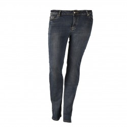 Damen Straight Fit Jeans Dolce Rosa im Used Look