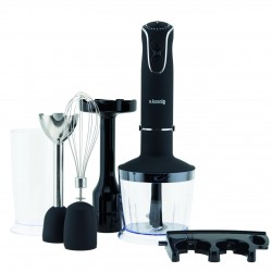 H.koenig MIX75 Stabmixer Set 4in1, schwarz