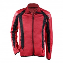 Softshell Cycling Jacket for men fin red/black