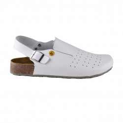 Best Medical+ Damen Tieffußbett Clogs ESD weiss gelocht