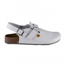 Best Medical+ Damen Tieffußbett Clogs ESD weiss