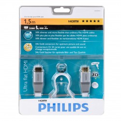 Philips SWV 3432SF High Speed-HDMI-Cabel 24k Gold Plug 1,5 m white