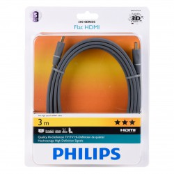 Philips SWV 4437/S10 Flat High Speed HDMI 1.4 Audio-/Video-Kabel 3,0 m schwarz