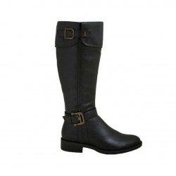 Betty May Damen Langschaftstiefel schwarz