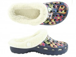 Camprella Kids Phylon Clogs with Warmlining navy