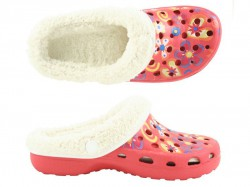 Camprella Kinder Phylon Clogs mit Warmfutter rot