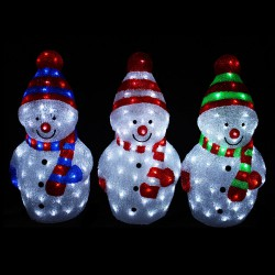 LED Snowman with 80 LEDs