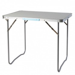 LEX picknick table with handle, aluminium frame, MDF tabletop, 80 x 60 x 66,5 cm