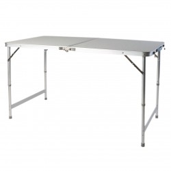 LEX Picnic table, height adjustable, fold-out, with handle, aluminium frame, MDF tabletop with coating, 120 x 60 x 55/70 cm