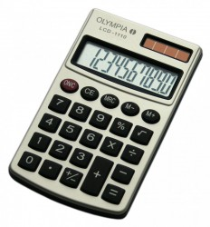 OLYMPIA LCD 1110 Calculatrice, couleur argent