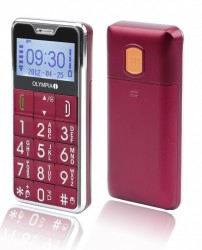 OLYMPIA Caro Comfort Mobile Phone with Big Buttons - Red