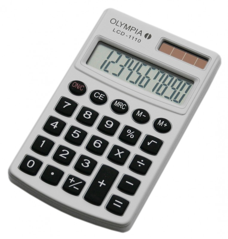 OLYMPIA LCD 1110 calculatrice, blanc